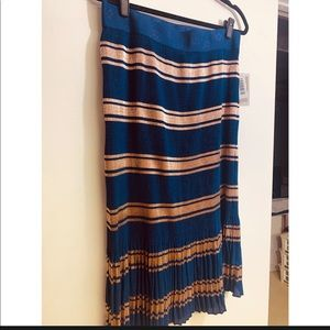 Large Rose Gold & Navy midi skirt